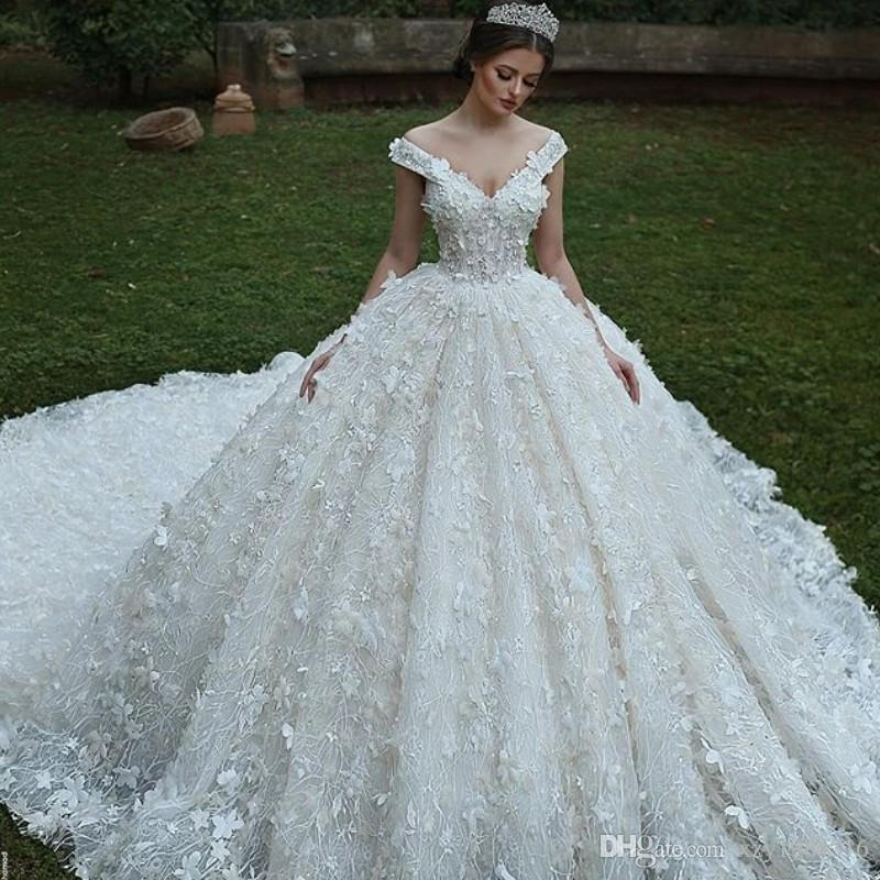 flare wedding dress min